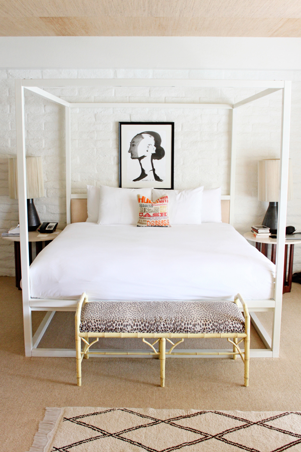 Chic rooms with Jonathan Adler accents at The Parker Palm Springs