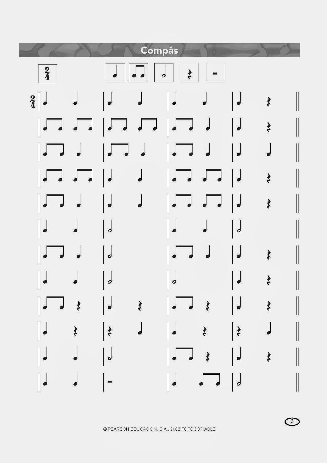 ejercicios lenguaje musical: