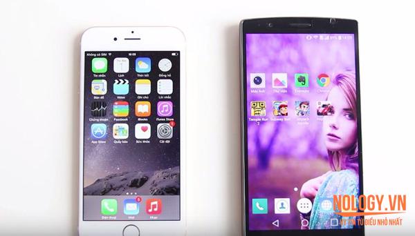 hiệu năng iPhone 6 Lock và LG G4