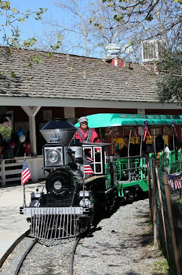 Irvine Park Railroad anniversary train
