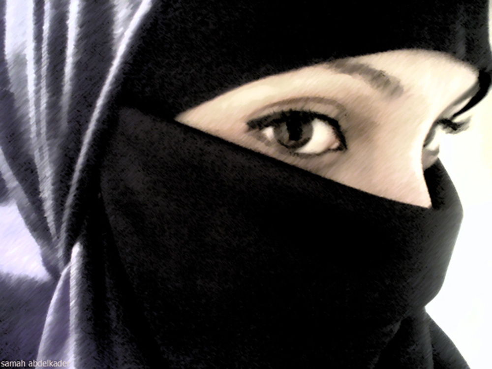 Arab egypt in niqab hijab anal masturbation on webcam 7