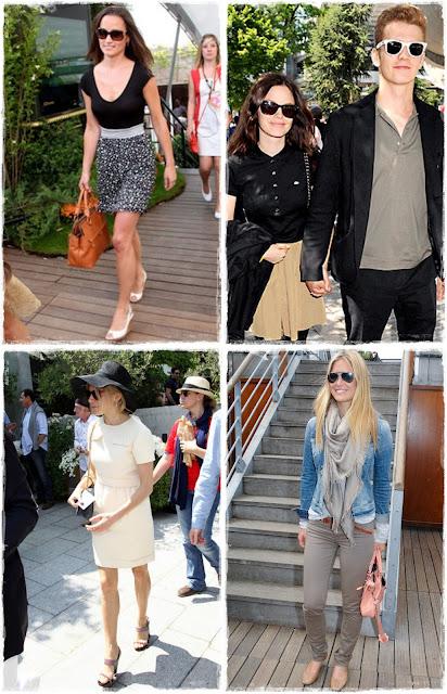 Pippa Middleton, Rachel Bilson, Sienna Miller y Bar Refaeli - Roland Garros