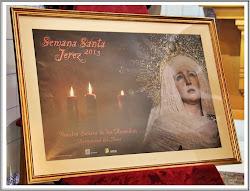 Cartel que anuncia la Semana Santa 2013 de Jerez de la Hermandad del Stmo. Cristo del Amor.