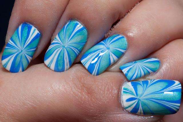 Elevation Polish Water Marble Guest Post Raggio di Luna Nails