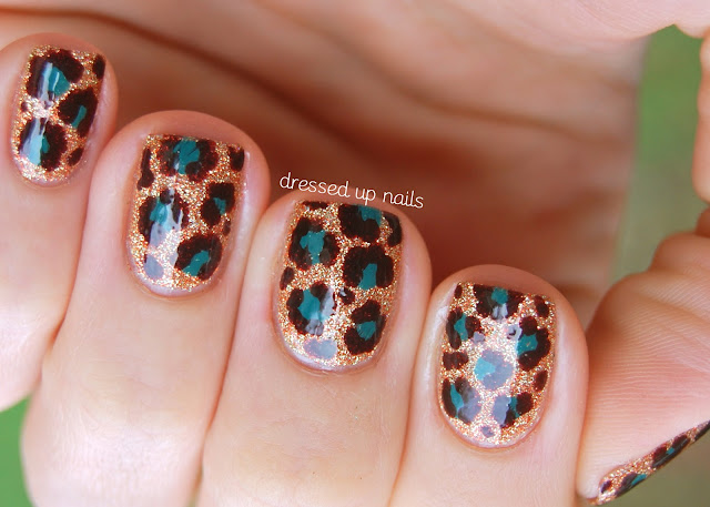 China Glaze On Safari leopard print nails