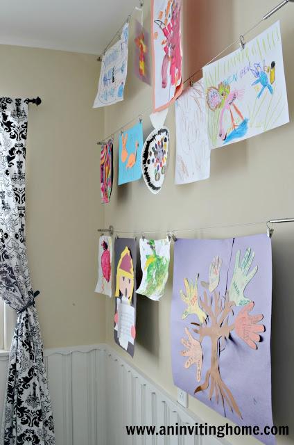 creating a kids art wall