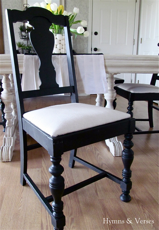 My $40 Yard Sale Dining Room Table & Chairs - Hymns and Verses