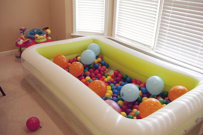 Manualidades decoraci n pintura piscina de bolas - Piscina de bolas para bebes ...