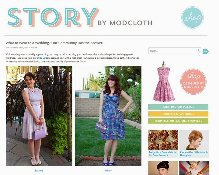 Modcloth, modcloth.com, Modcloth blog, what to wear to a wedding, A Coin For the Well, style gallery, Southern California Belle, purple vintage outfit, lilac vintage outfit, Swedish Hasbeens, matching head to toe, Suzanne Amlin