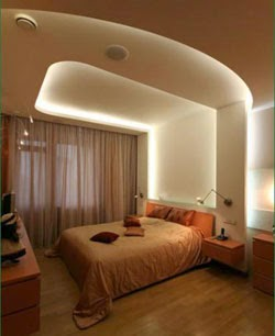 Top designs Plasterboard ceilings in the bedroom