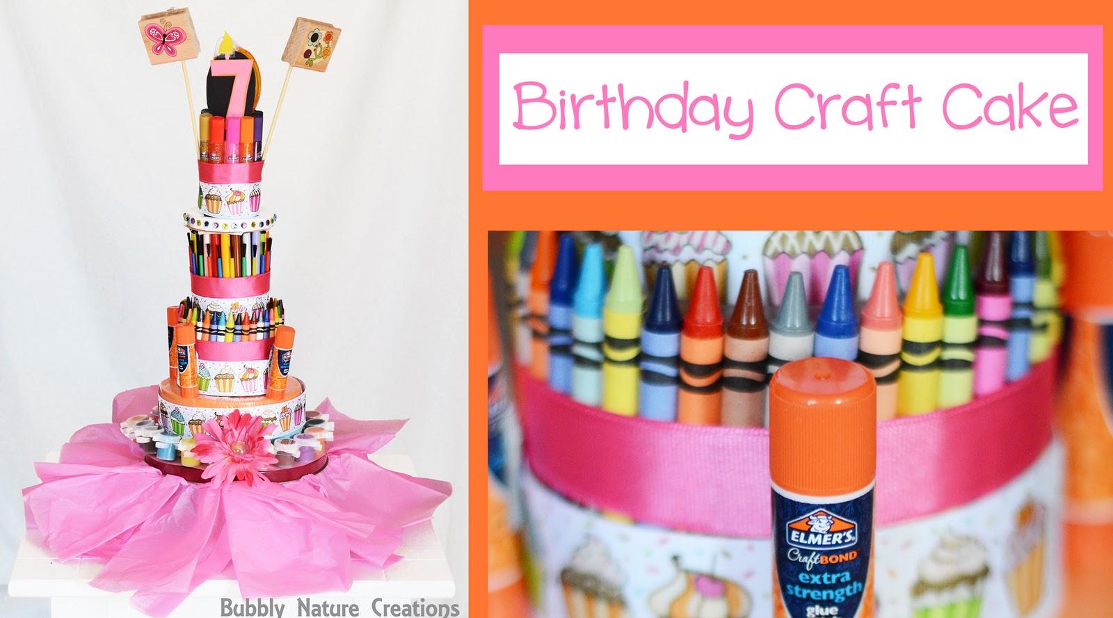 Birthday craft cake sprinkle some fun for Birthday craft ideas for girls