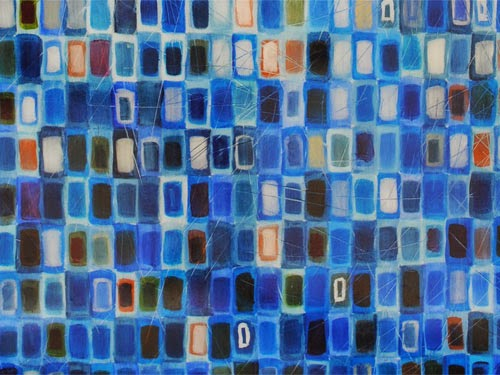 blue abstract art by Jim Dee