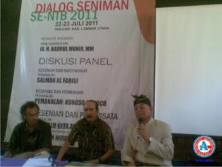 Dialog Seniman Rekomendasi  Pembentukan Dewan Kesenian di Daerah