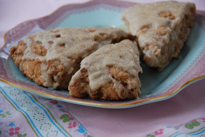 ... and Creating with Avril: Banana Bread Scones with Brown Sugar Glaze