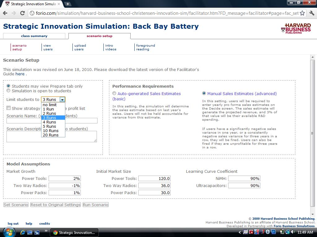strategic innovation back bay m14828 Strategic innovation simulation: back bay battery this simulation is by havard business publishing i have been trying to pass this simulation for 2 weeks now with no success you must complete through the year 2020 without being fired this is a marketing assignment so please do not attempt to shake hands if you do not know marketing i have been fired from this simulation program more than i.