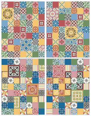Carreaux ciment traditionnels et contemporains prix int ressant patchwork - Prix carreau de ciment ...