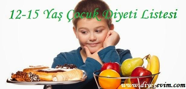 çocuklar için diyet listesi
