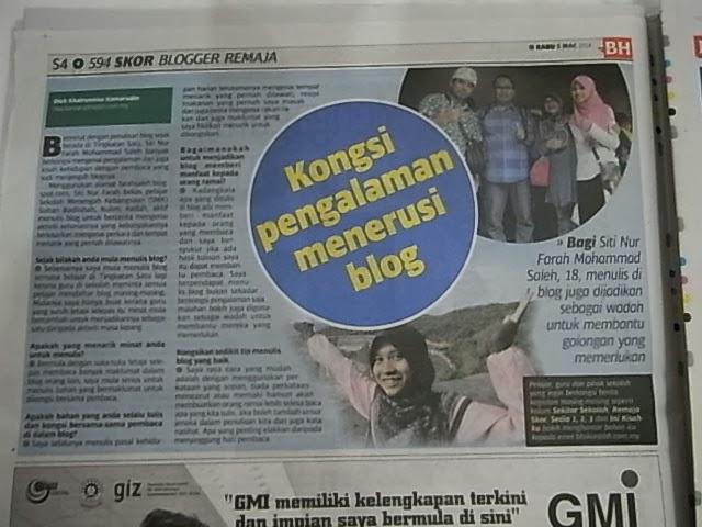 keratan akhbar dari BHSKOR