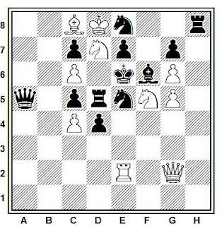 Problema de mate en 2 compuesto por Alex Casa (122º T. T. British Chess Federation, 1969)