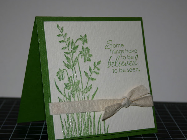 Heat Embossed Spring Card Tutorial
