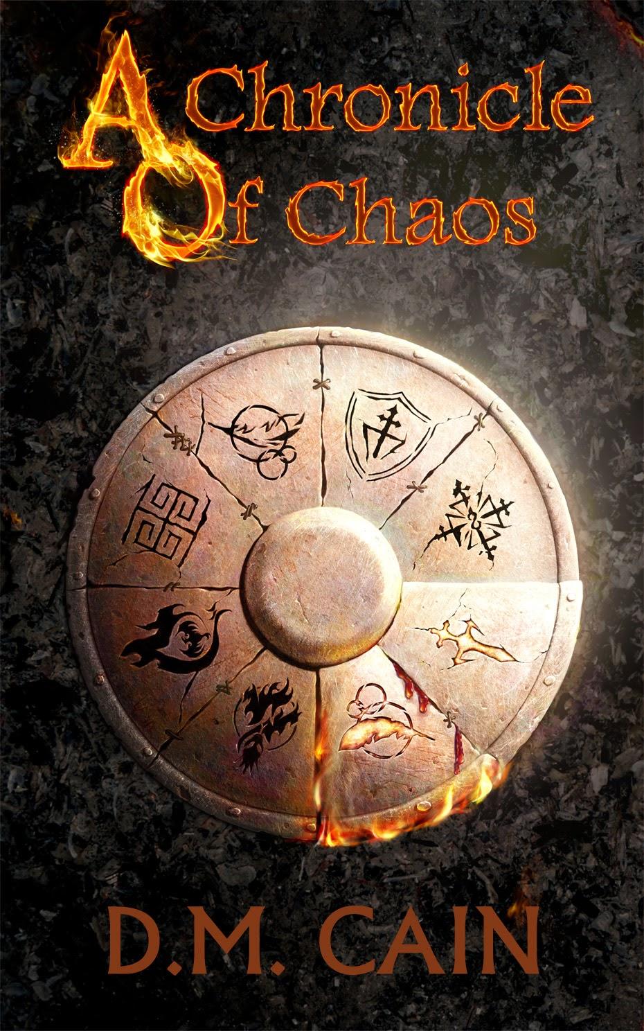 d.m. cain, chronicle of chaos, fantasy, demon, angel, novel