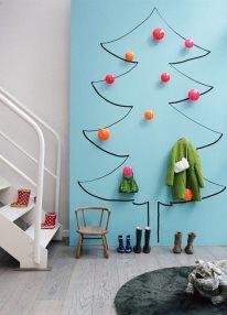 Adesivo de parede de árvore de natal