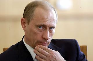 Scary Vladimir Putin face