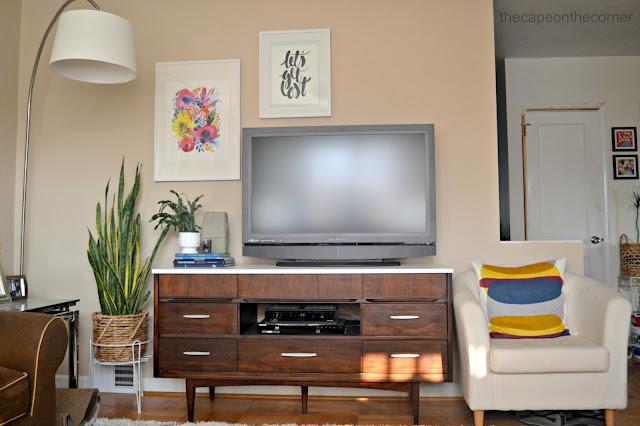 living room mcm dresser