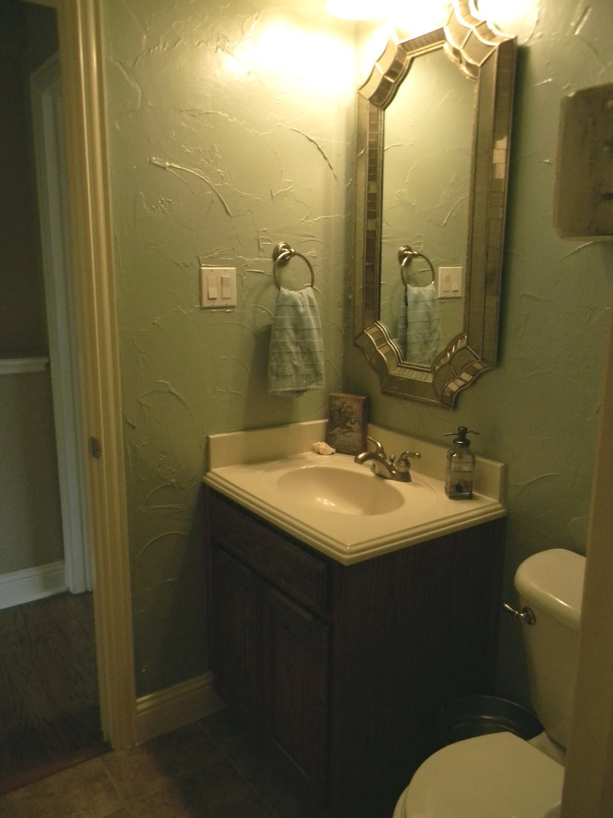 Little Bit of Paint Small Bathroom Makeover