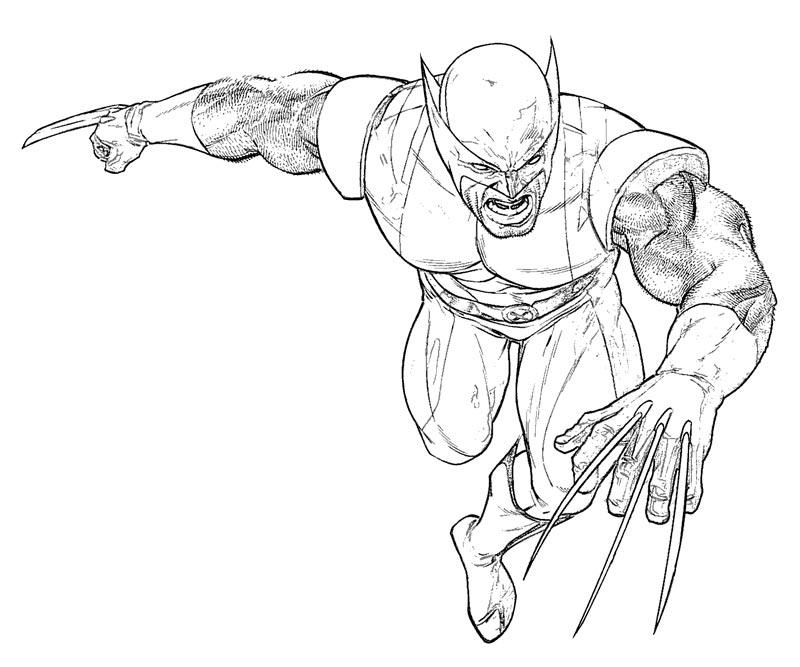 4 wolverine coloring page for Wolverine coloring pages free
