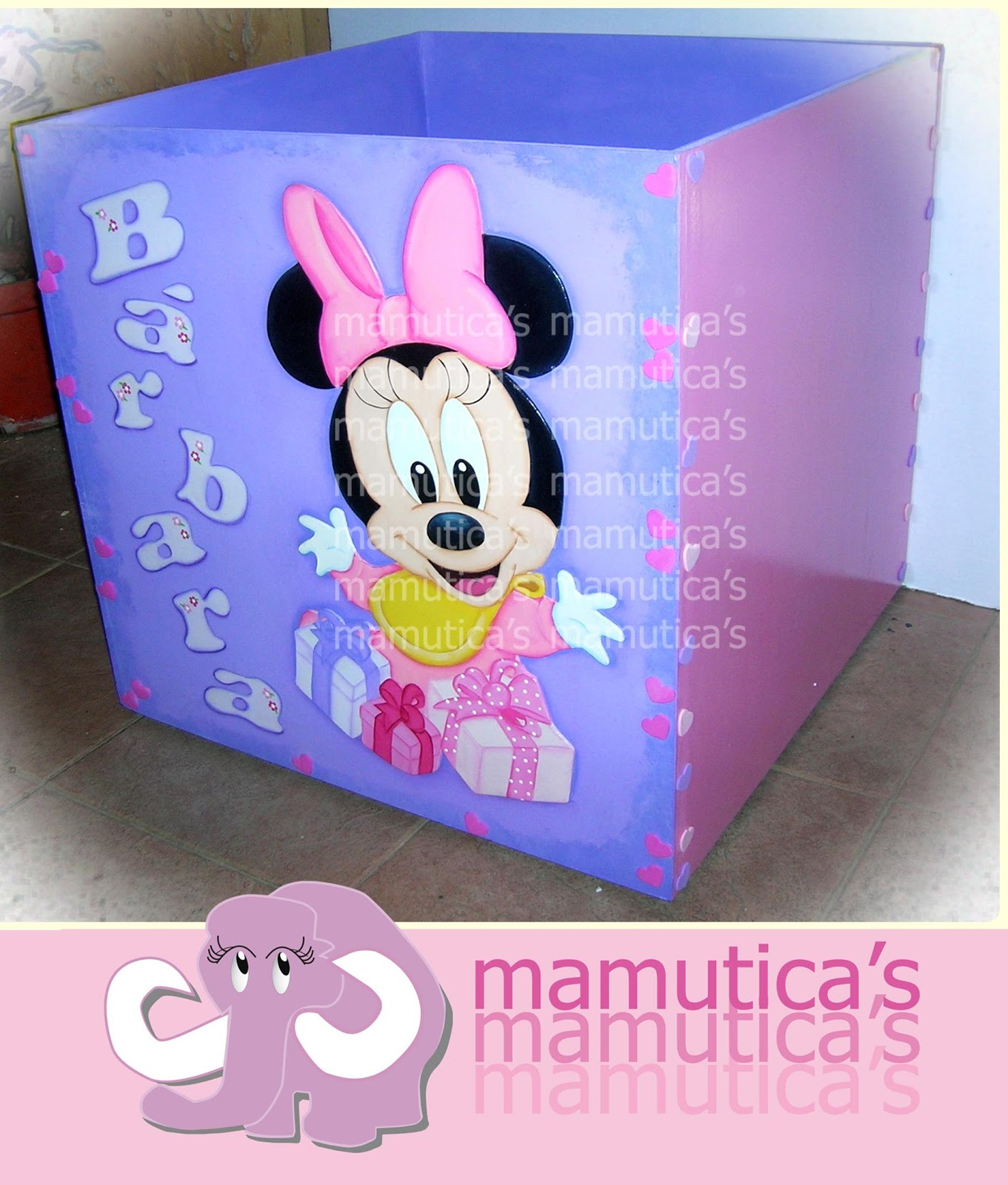 Mamutica's: Caja para regalos Baby Minnie