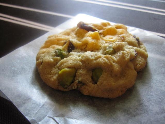 Cranberry Pistachio White Chocolate Cookies