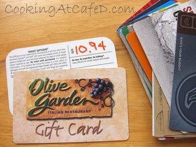 Organizing Gift Cards