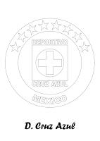 Deportivo Cruz Azul para colorear