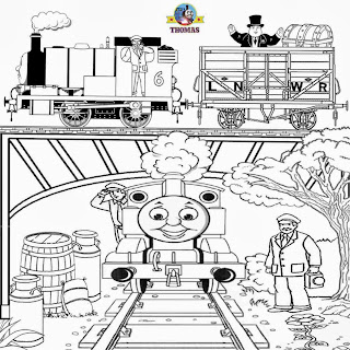 October activities Thomas & friends Percy train Halloween coloring book printables for kids to color