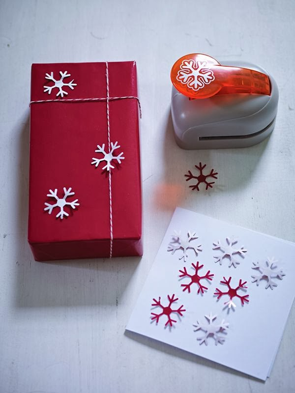 large snowflake punch and double sided gift wrap from Cox and Cox