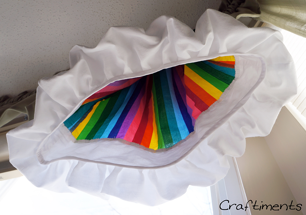 Craftiments:  Underside of bubble ruffle
