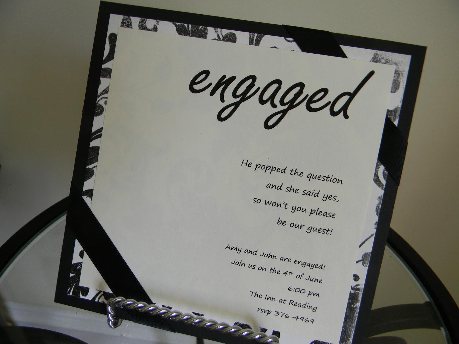 k a davis designs engagement party invitation