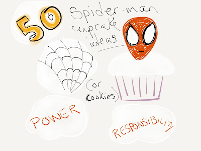 spider-man cupcake decoration ideas