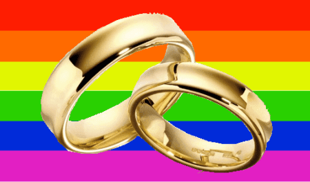 Rainbow Flag And Wedding Rings by jiveinthe415.com
