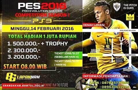 Kompetisi PES 2016 di Jogya Februari 2016