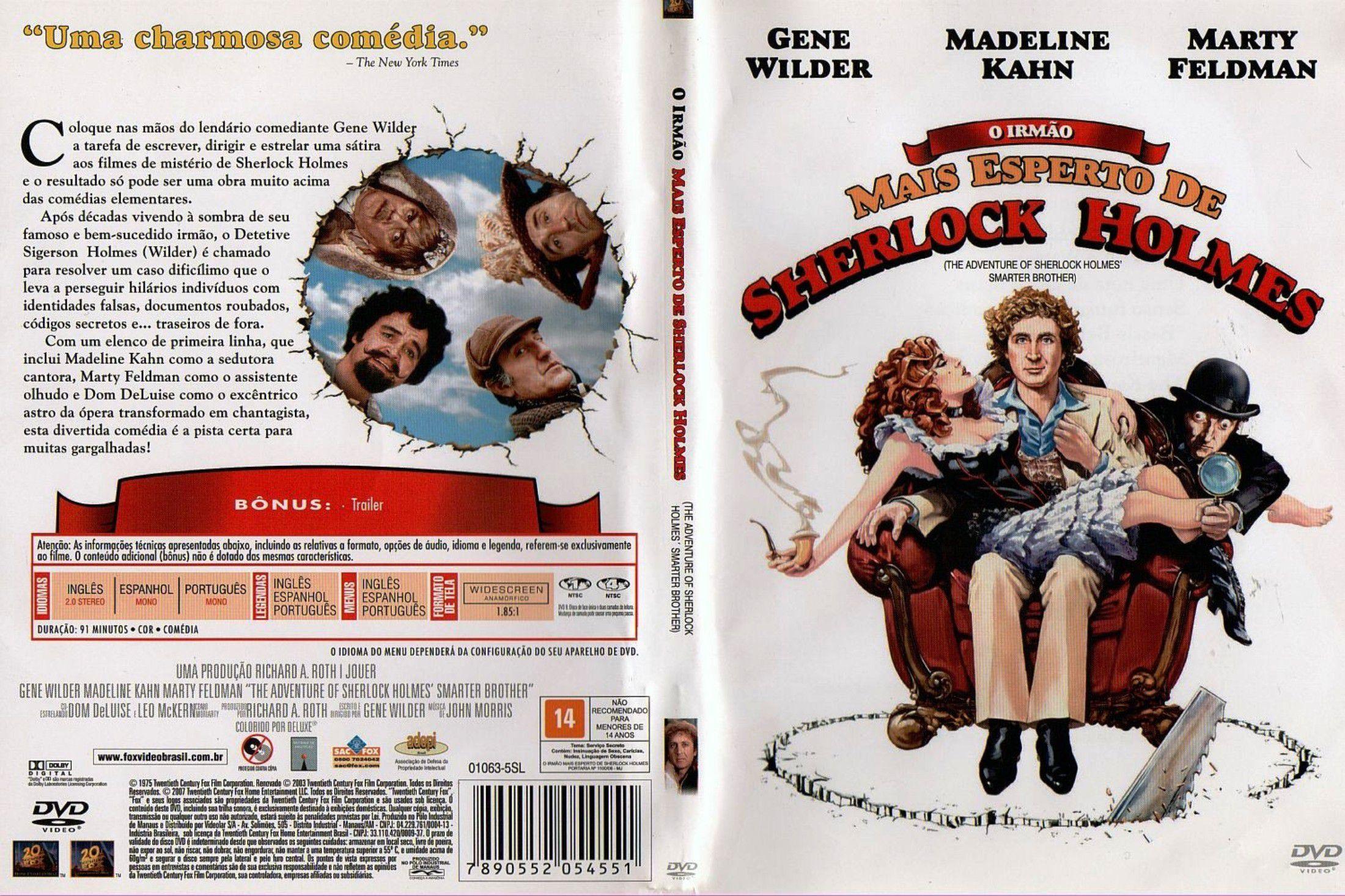 Capa DVD O Irmão Mais Esperto De Sherlock Holmes