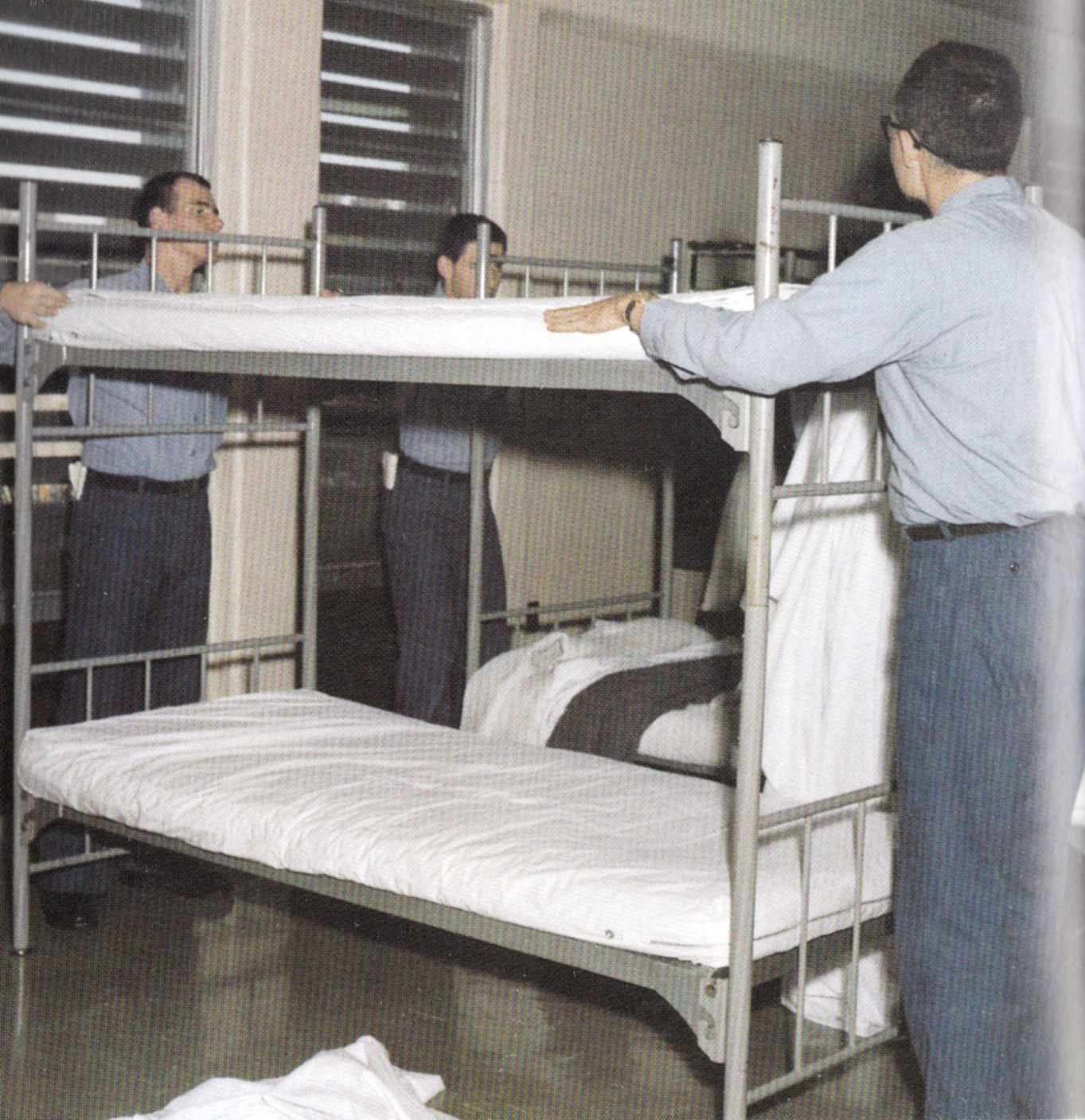 Tommy Mondello bunks in boot camp