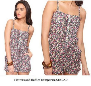 Forever 21 Flowers and Ruffles Romper