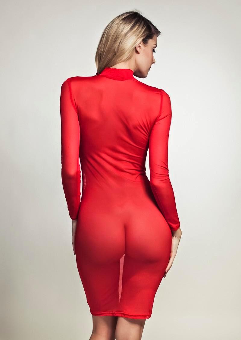 Estupendo Vestido Transparente