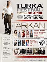 Tarkan on stage in Dortmund
