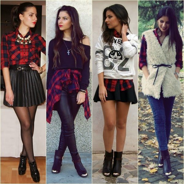how to wear red plaid
