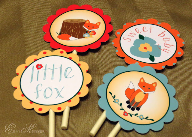 EMPrintables Elated Memories Little Fox Baby Shower Digital Designers November Color Challenge