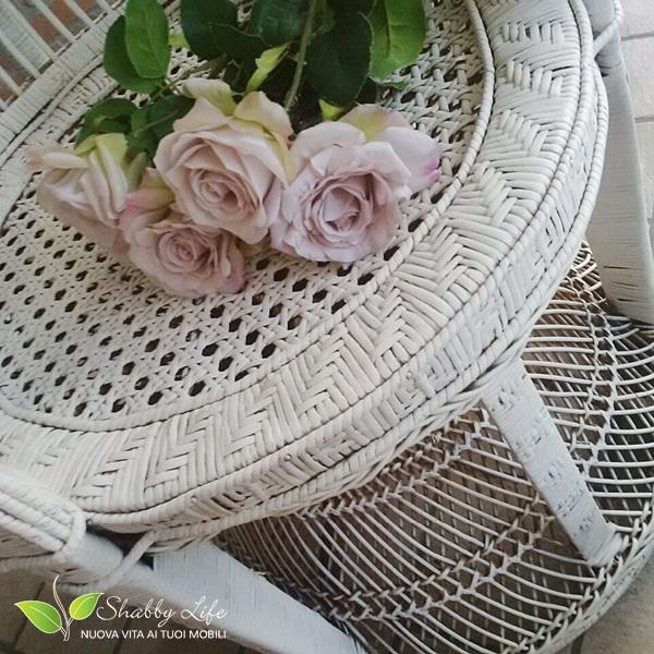 sedia vimini coda di pavone restyling