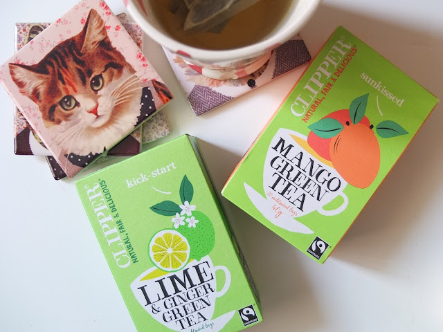 Clipper Green Tea: Kick - Start & Sunkissed